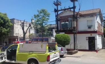 Se prendió fuego un transformador en calle French al 270