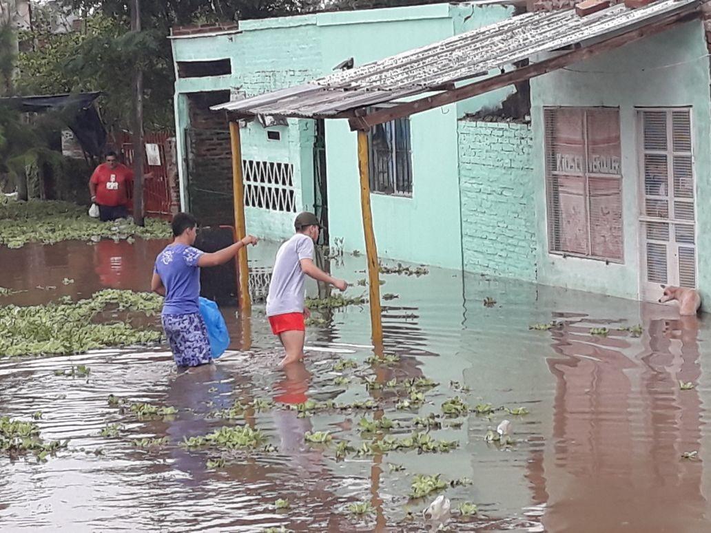Sáenz Peña: Tierra de nadie en plena inundación
