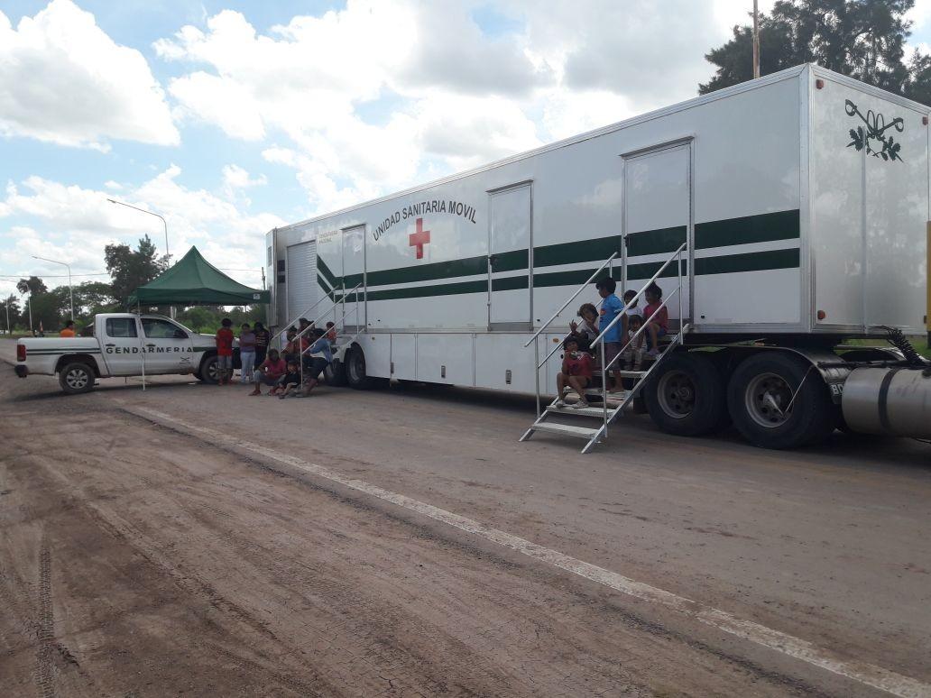 La Unidad Sanitaria Móvil de Gendarmería Nacional en Sáenz Peña