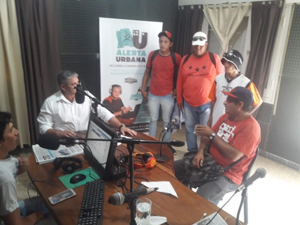 """El Movimiento 17 de Julio """"La Nueva Generación"""", adheridos al Frente Popular Darío Santillán"""" eligió el programa """"Alerta Urbana"""" de Radio Argentina 89.3 para dar su versión de los hechos"""