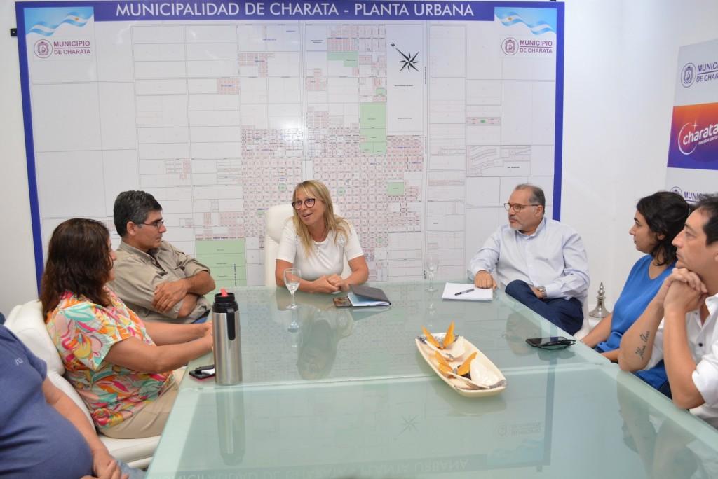 Charata: La Intendente María Luisa Chomiak recibió al Senador Antonio Rodas