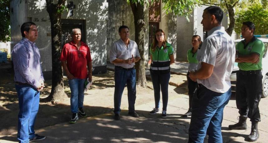 El Intendente refuerza la seguridad en el cementerio con la Guardia Comunitaria