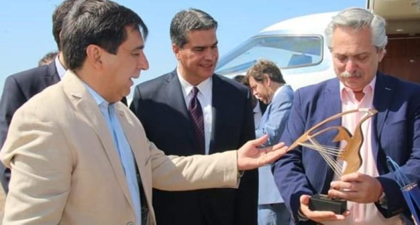 Gustavo Martínez recibió al Presidente Alberto Fernández y lo invitó a la Bienal de Esculturas 2020
