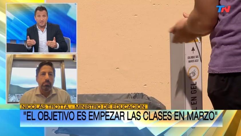 Nicolás Trotta buscará consensuar con los gremios docentes para la vuelta de las clases presenciales