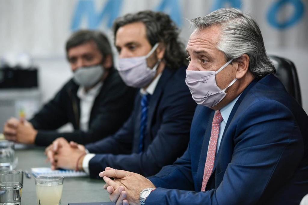 Alberto Fernández y Máximo Kirchner escenificaron un mensaje de unidad