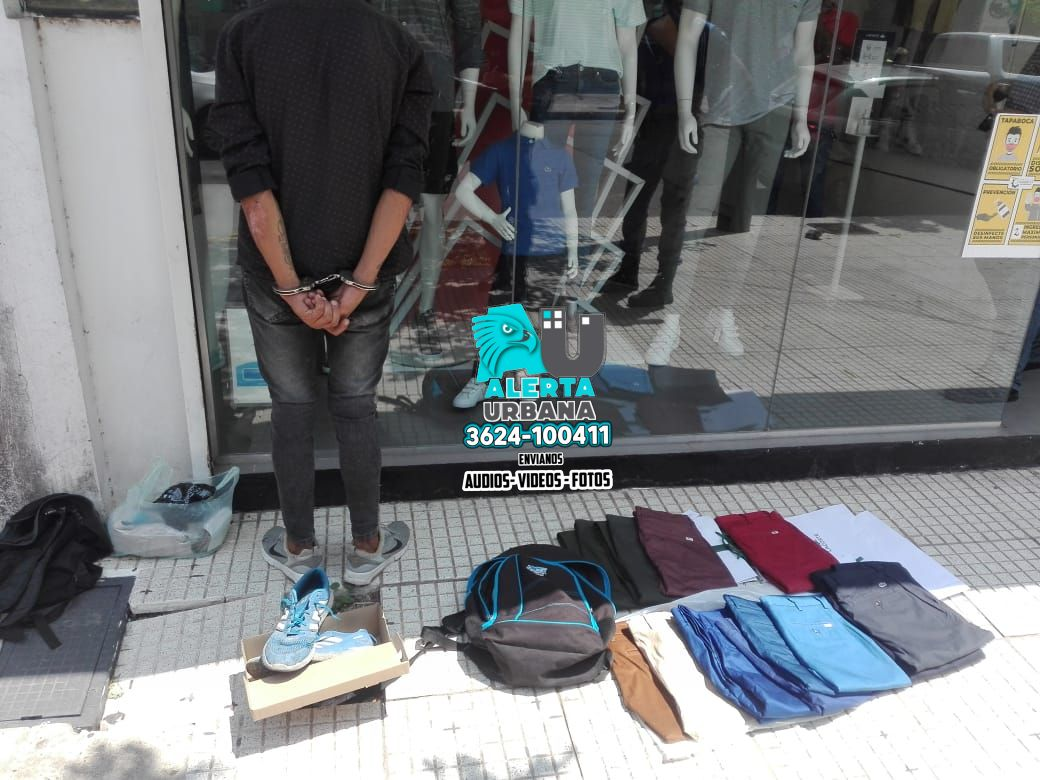 Resistencia: sustrajo más de cien mil pesos en pantalones y fue detenido
