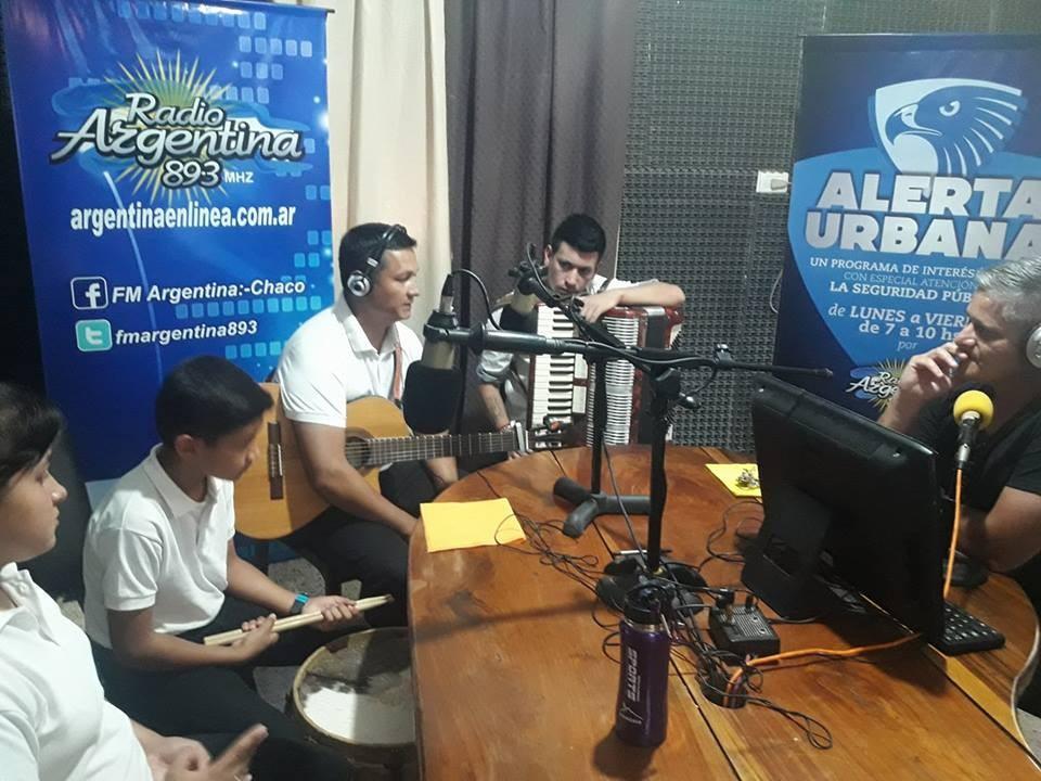 """""""Sol de Roca"""", el éxito musical de toda una familia de chaqueños, en vivo en  """"Alerta Urbana"""" por Radio Argentina 89.3"""