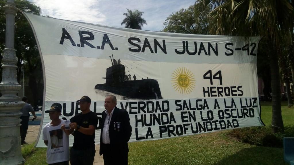 Los familiares de los tripulantes del ARA SAN JUAN realizan campaña para recaudar 4 millones de dólares para continuar la búsqueda.