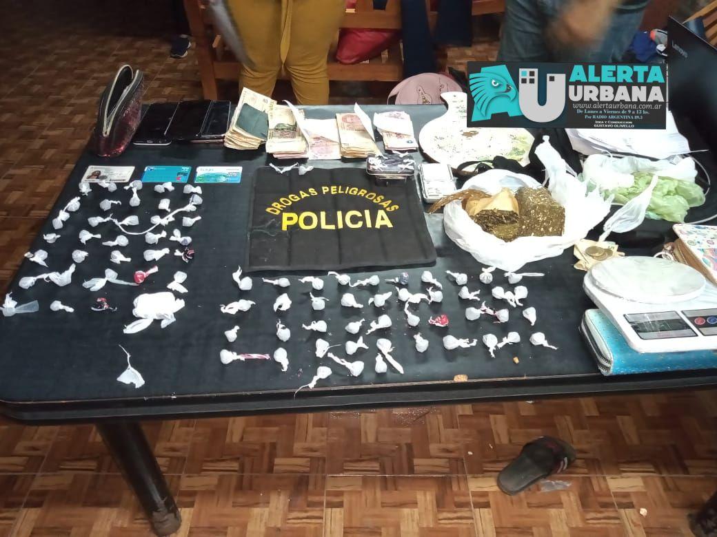 CHARATA: Allanamiento y secuestro de drogas, dinero y dos mujeres aprehendidas
