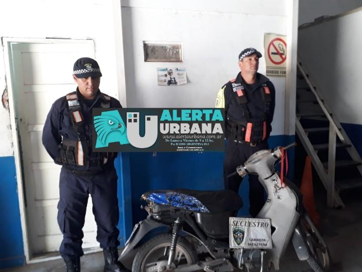 Sáenz Peña: Recuperaron motocicleta sustraída en el año 2014.