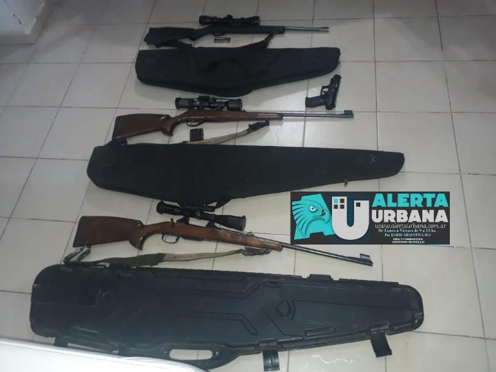 Gancedo: secuestro de armas de fuego y un aire comprimido.