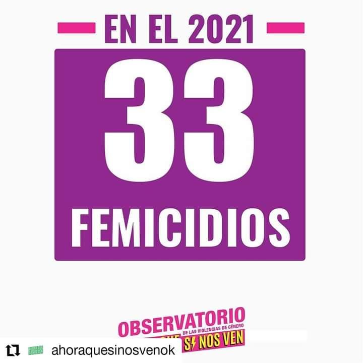 33 femicidios en 2021
