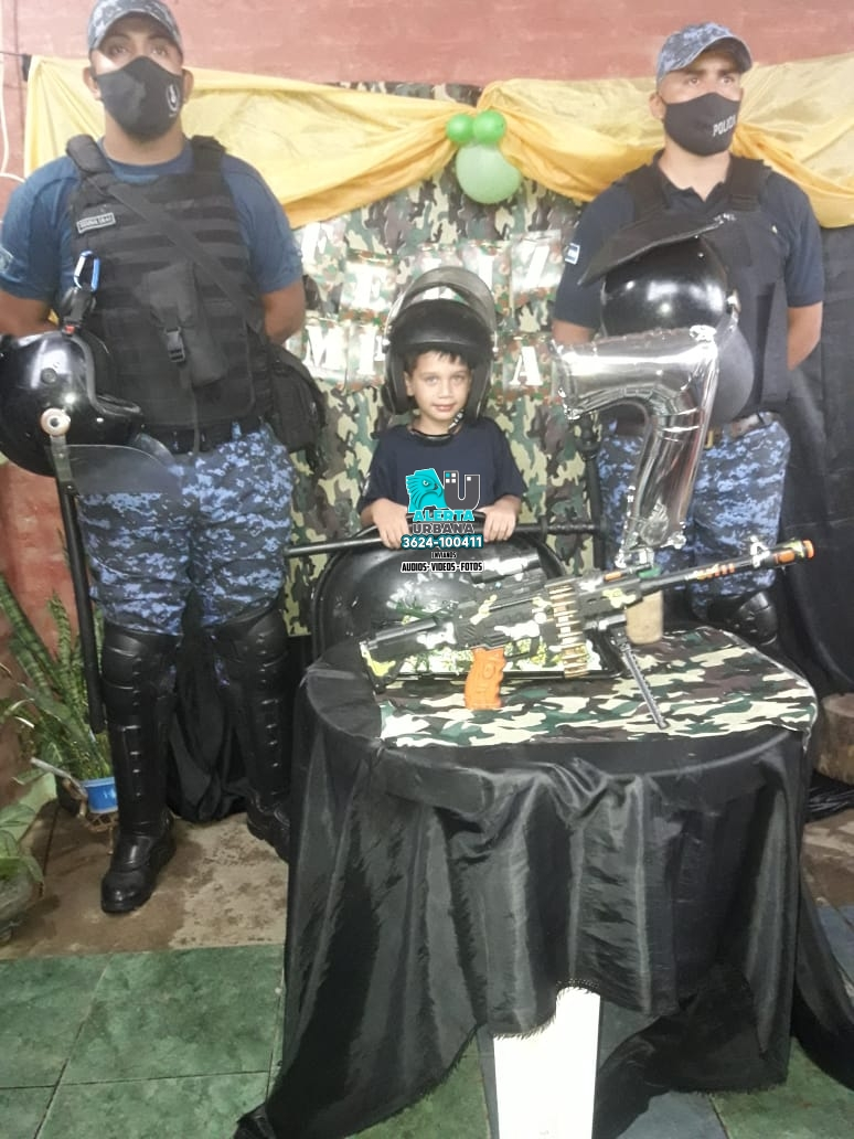 Resistencia: la Policía agasajó a un niño por su cumpleaños