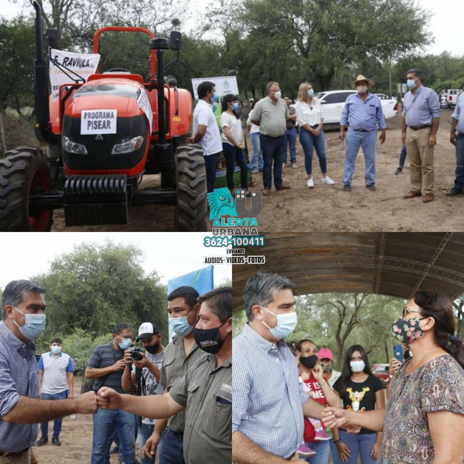 Capitanich entregó maquinaria agrícola al Consorcio Rural N°73 de Paraje San Vicente