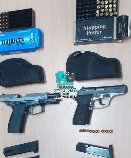 Basail: dos armas, un auto y cuatro detenidos