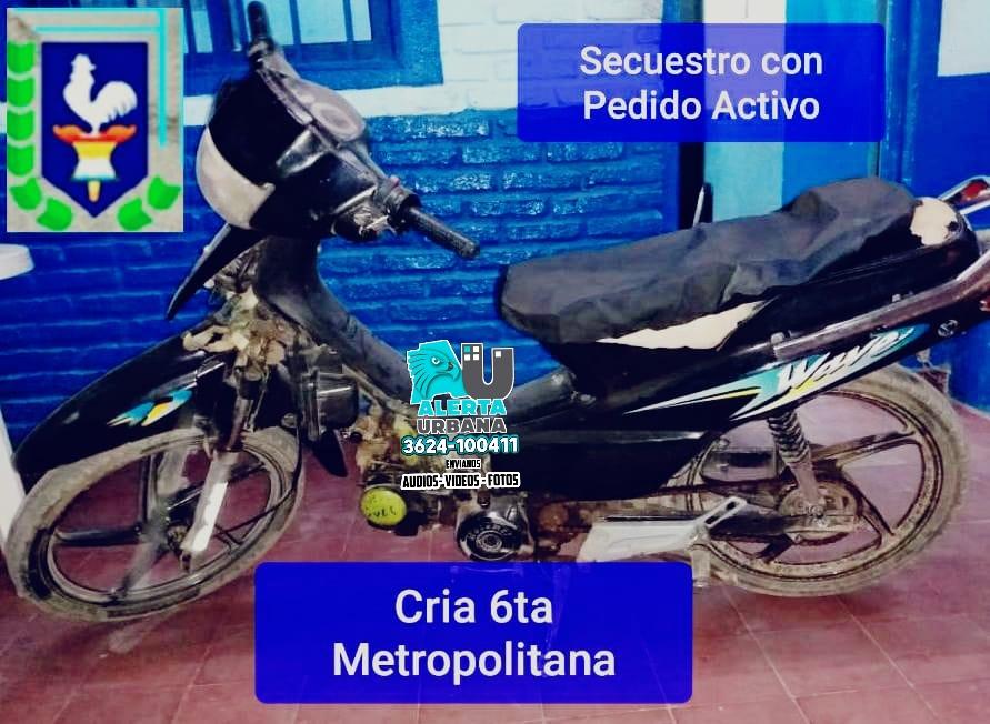Tras un seguimiento controlado logran recuperar una motocicleta