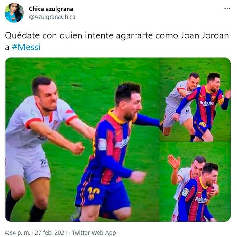 Quiso agarrar a Messi en velocidad, quedó en ridículo y se hizo viral: los memes en las redes