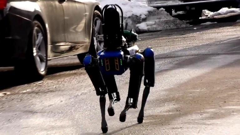 El perro robot Spot se convierte en policía y ya patrulla las calles de Nueva York