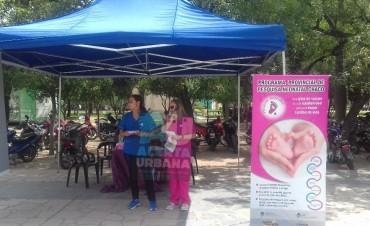 Promoción del Programa Provincial de Pesquisa Neonatal en la Plaza 25 de Mayo