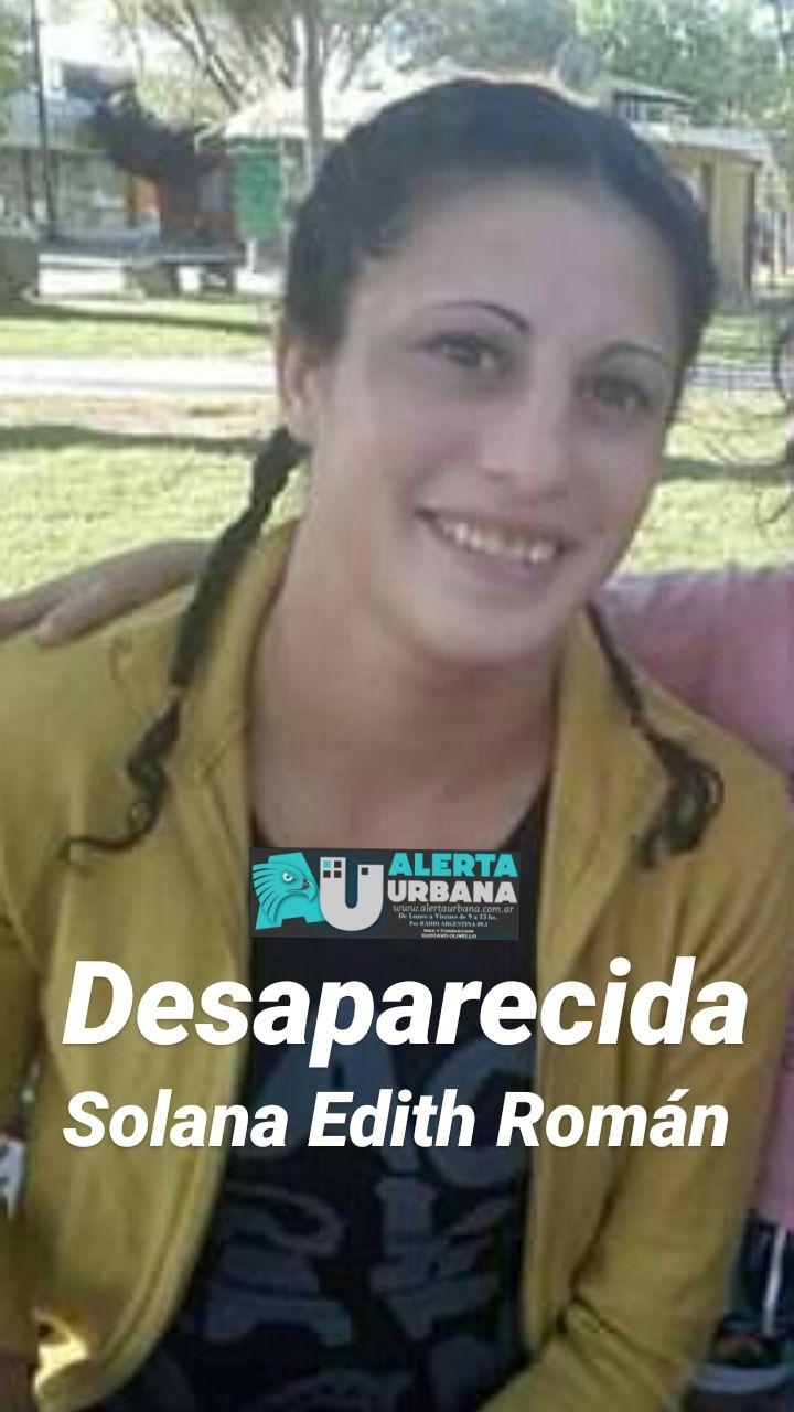 Se busca el paradero de Solana Edith Román