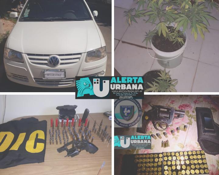 Diversos allanamientos con secuestro de armas, drogas y tres detenidos, en Resistencia