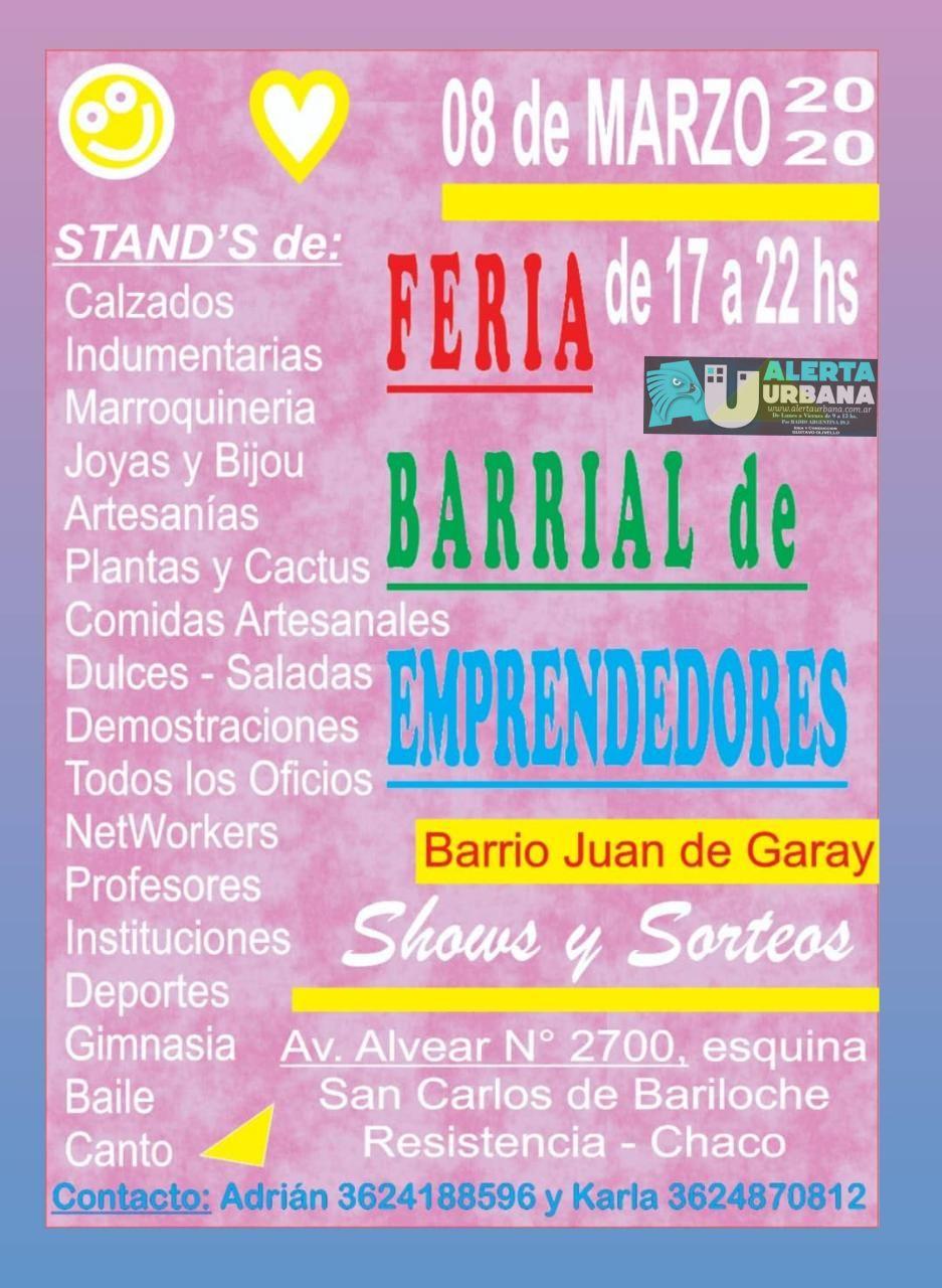 Gran feria Barrial en Barrio Juan de Garay
