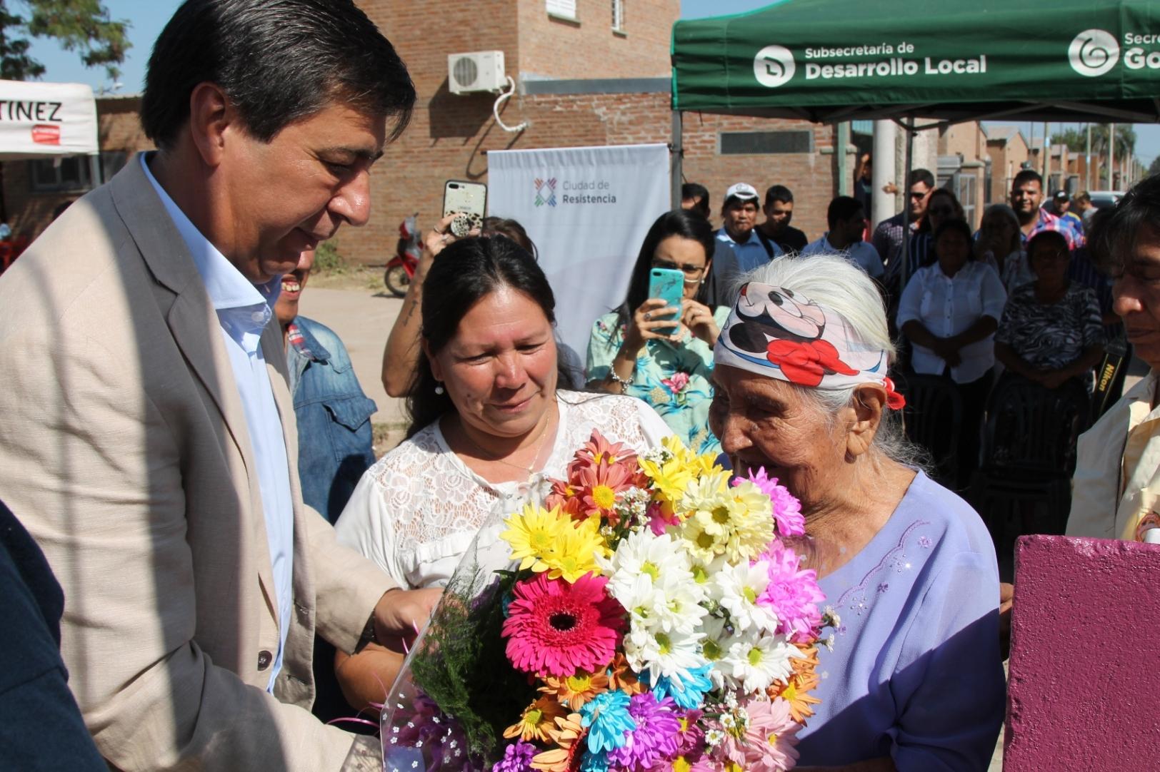 Semana de la mujer: la ciudad de Resistencia homenajeó a Isabel Gómez, una de las primeras habitantes del Barrio Toba