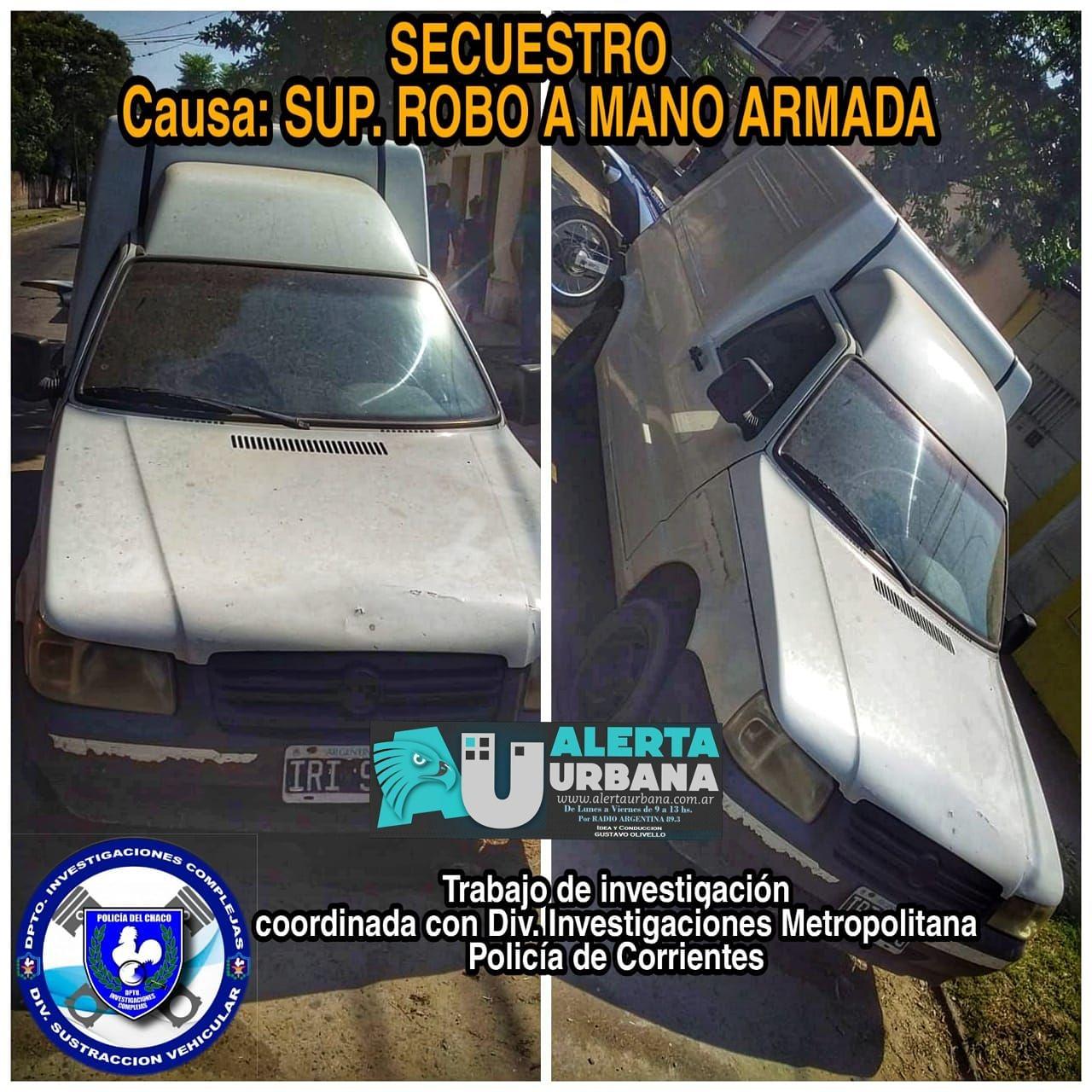 La policía de Chaco y Corrientes recuperaron una camioneta robada