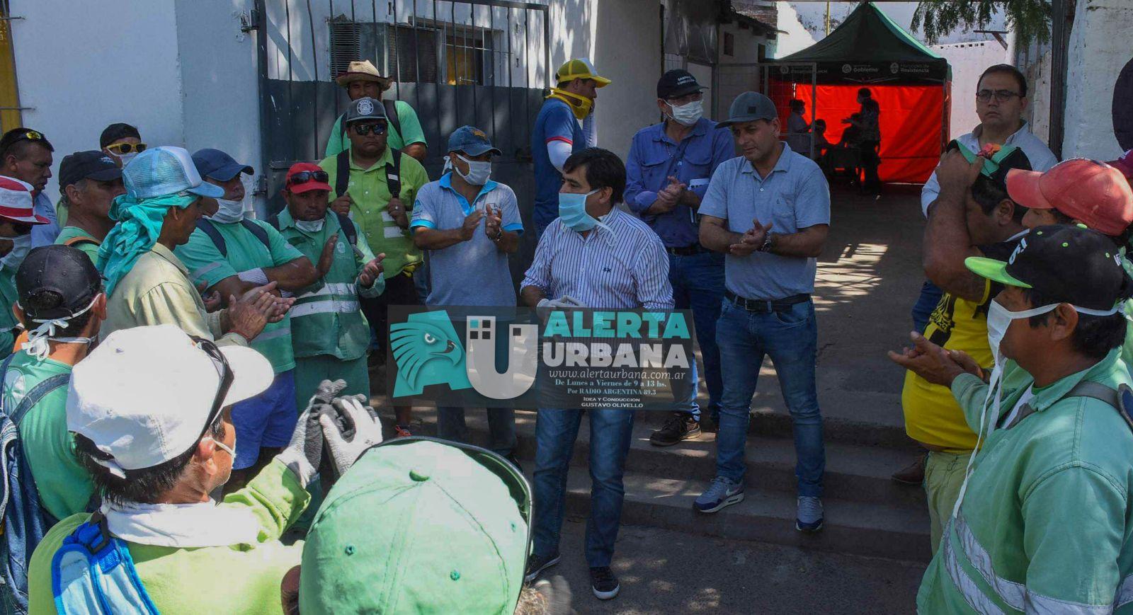 El Intendente de Resistencia presentó a los trabajadores del área de limpieza el nuevo protocolo de trabajo ante la Pandemia