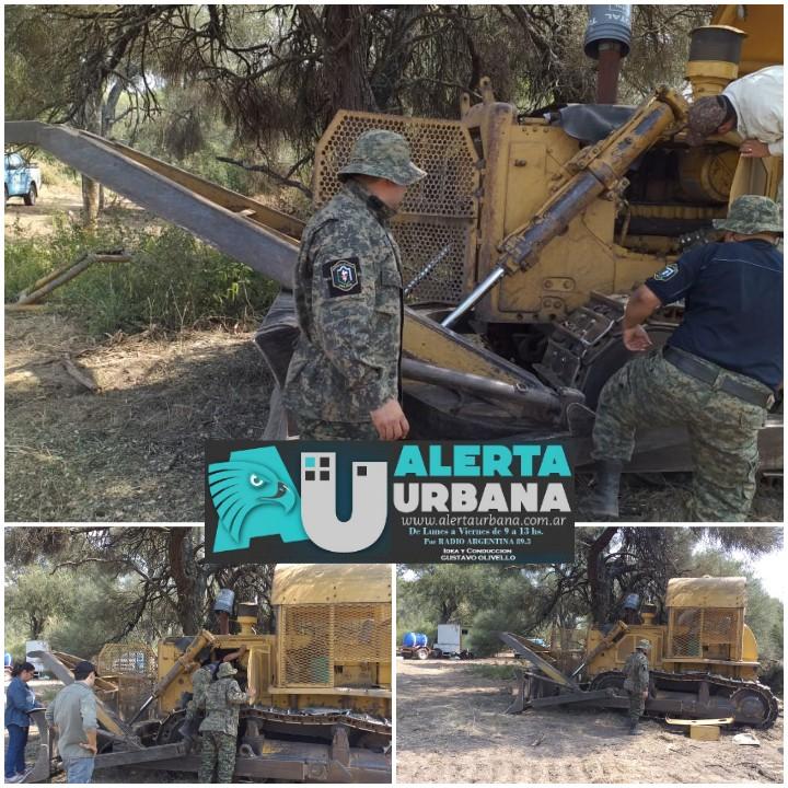 Allanamientos y secuestro de maquinarias utilizadas para la tala ilegal.
