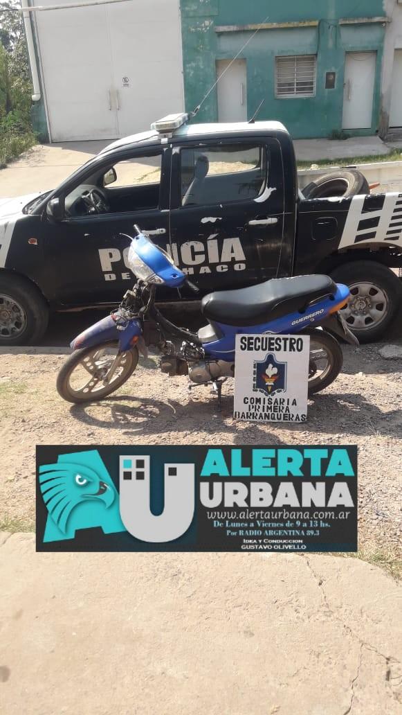 Comisaría de Barranqueras logró recuperar una motocicleta.