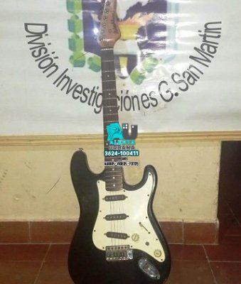 San Martín: recuperaron una guitarra robada hace más de dos años