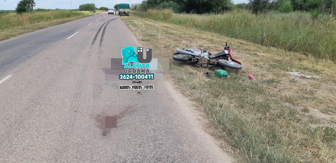 Juan José Castelli. Siniestro fatal sobre Ruta Provincial 9