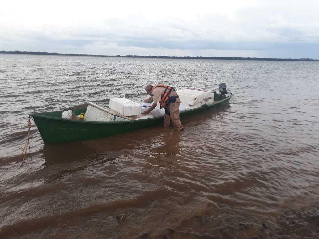 Prefectura decomisó casi una tonelada de pescado ingresado irregularmente desde Brasil