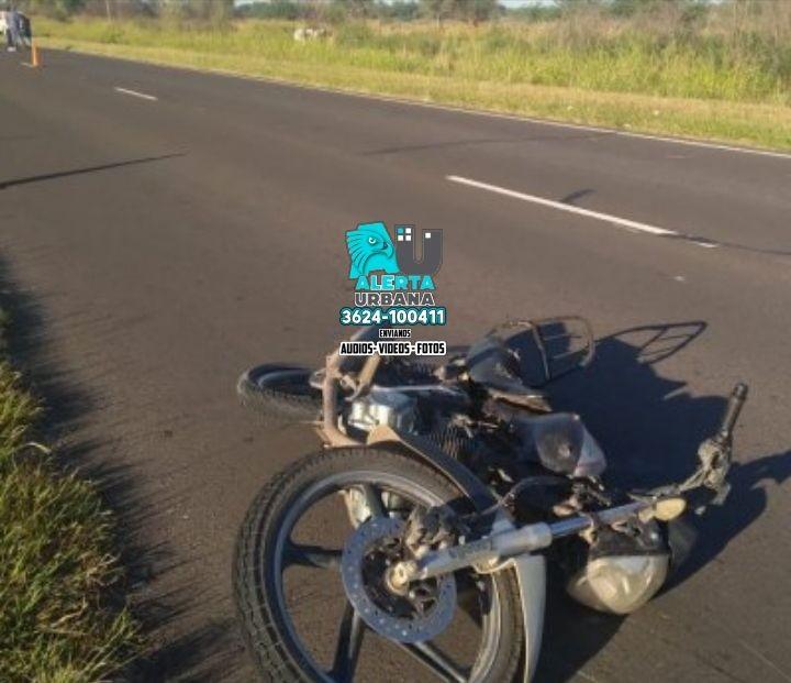 Quitilipi: motociclista perdió la vida en un accidente de tránsito