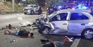 La Matanza: Robo, persecución y tiros en la Autopista 25 de Mayo: 4 detenidos y 8 heridos