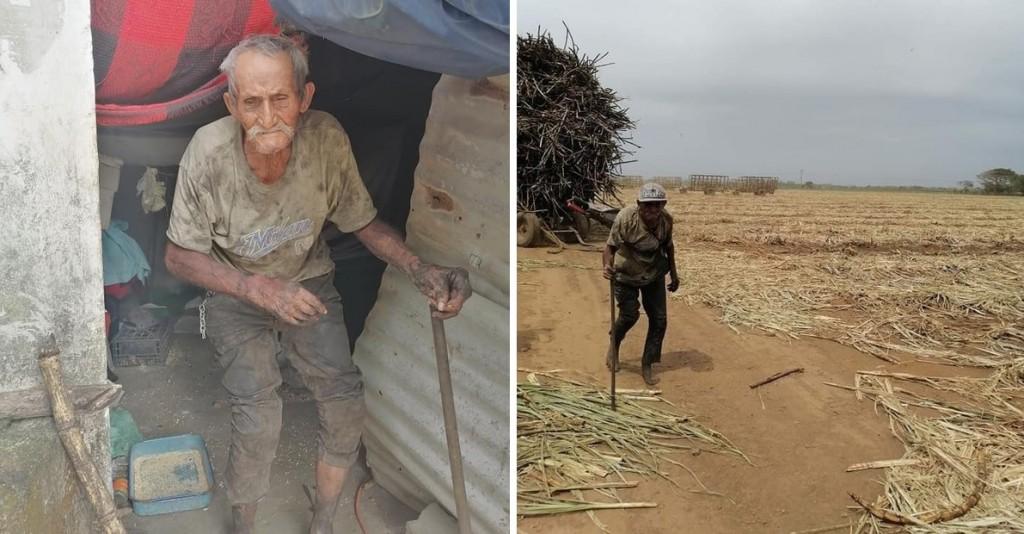 Un hombre de 94 años trabaja 12 horas al día para conseguir comida