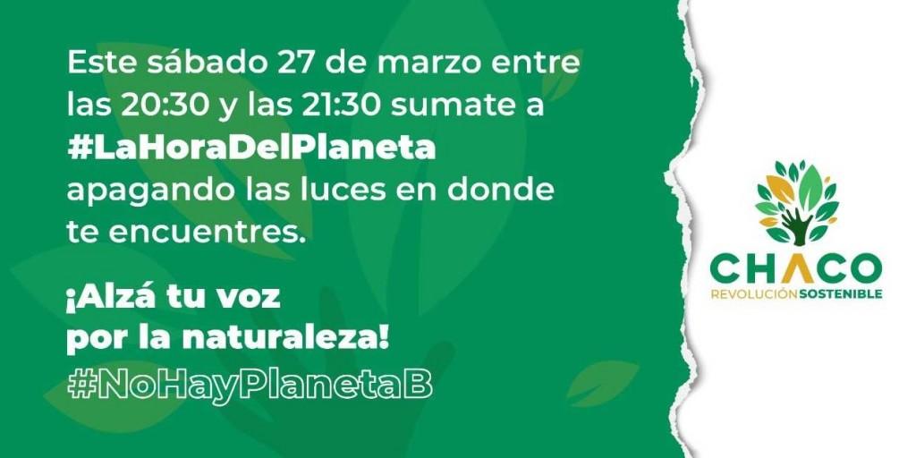 """Invitan a participar a la """"Hora del Planeta"""""""