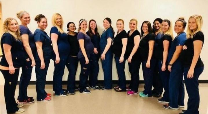 En un mismo hospital, 16 enfermeras quedaron embarazadas al mismo tiempo