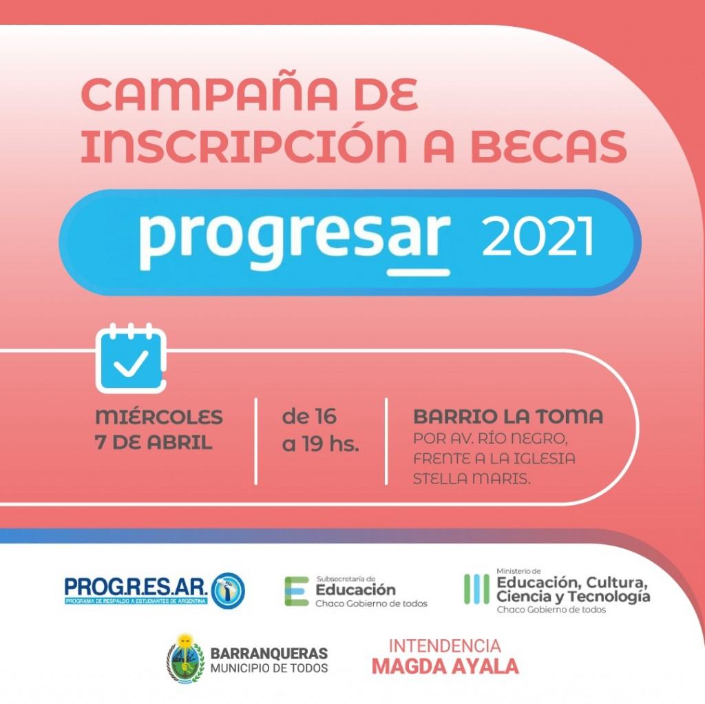Barranqueras: nuevas fechas de inscripción para las becas progresar