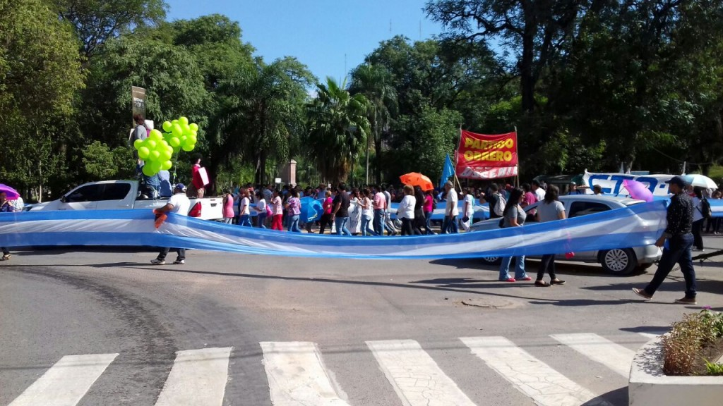 La multisectorial marcho por el centro de Resistencia