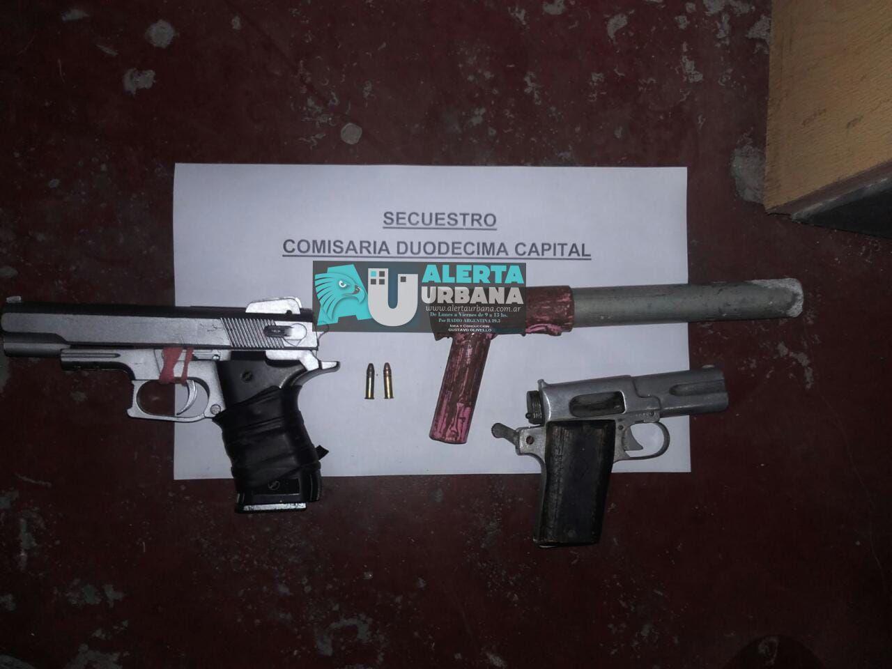 Desorden y agresión con armas de fuego a efectivos policiales