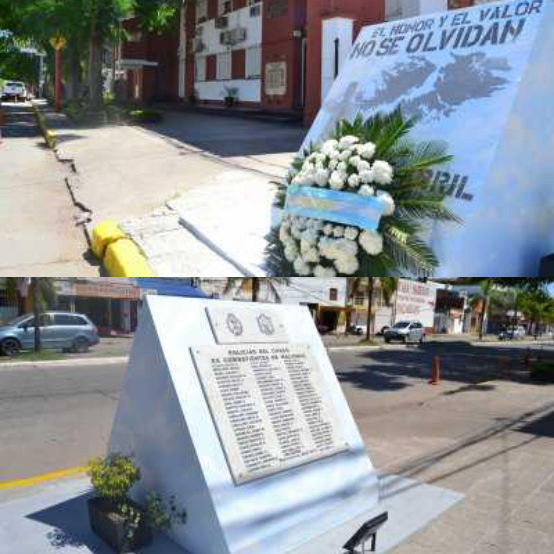 La Policía del Chaco homenajeó a los héroes de Malvinas