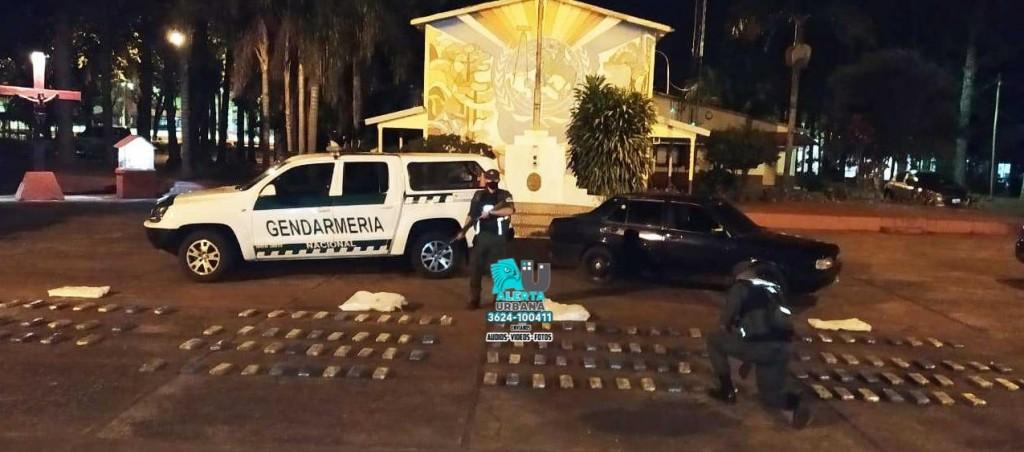 Misiones: 118 kilos de marihuana fueron hallados en un vehículo
