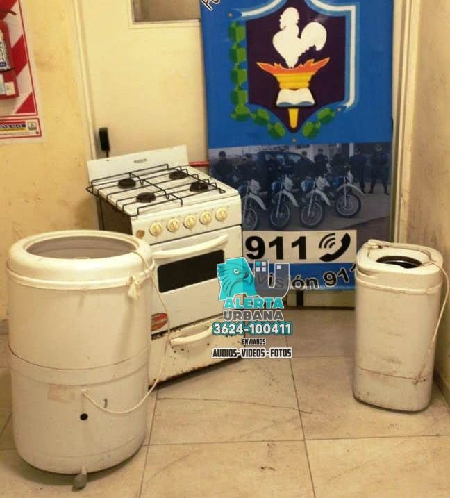 Escondidos entre la maleza hallaron electrodomésticos buscados por hurto