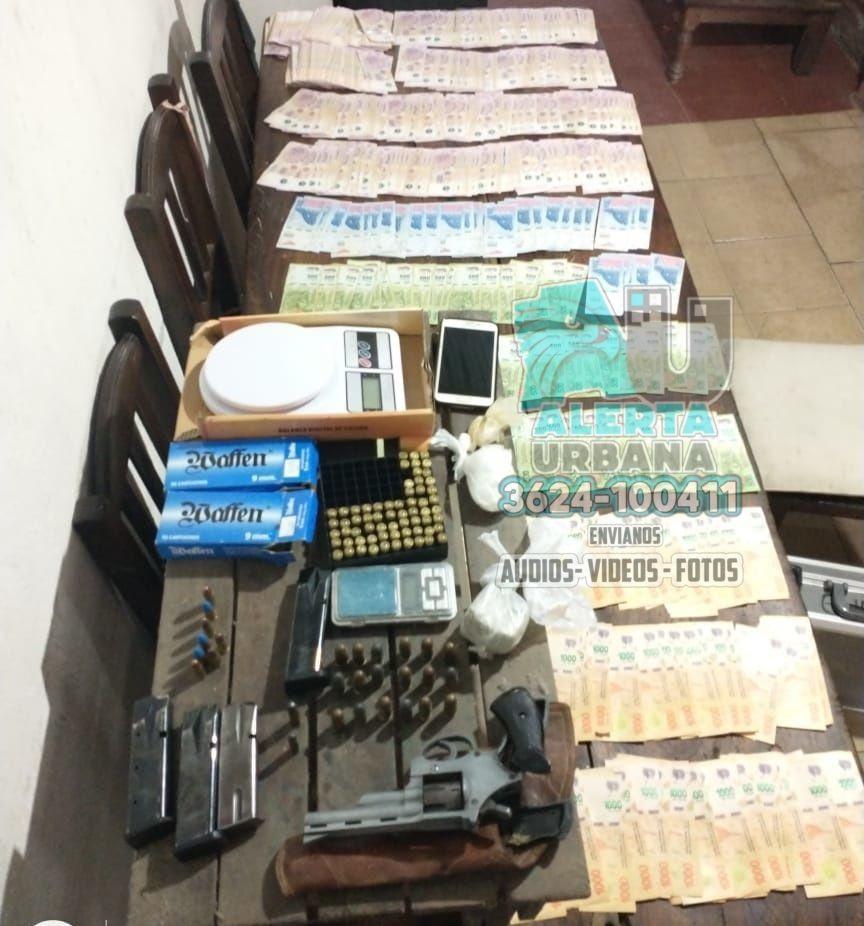 Secuestran marihuana, cocaína, un arma y más de $200.000 durante allanamientos en Resistencia