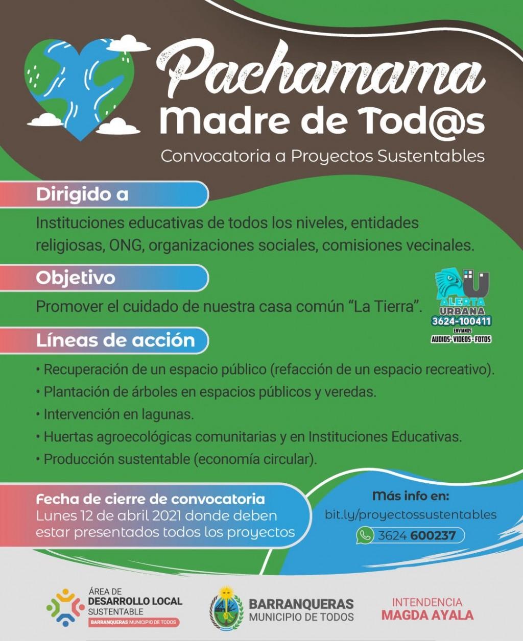 Barranqueras: convocatoria para proyectos sustentables