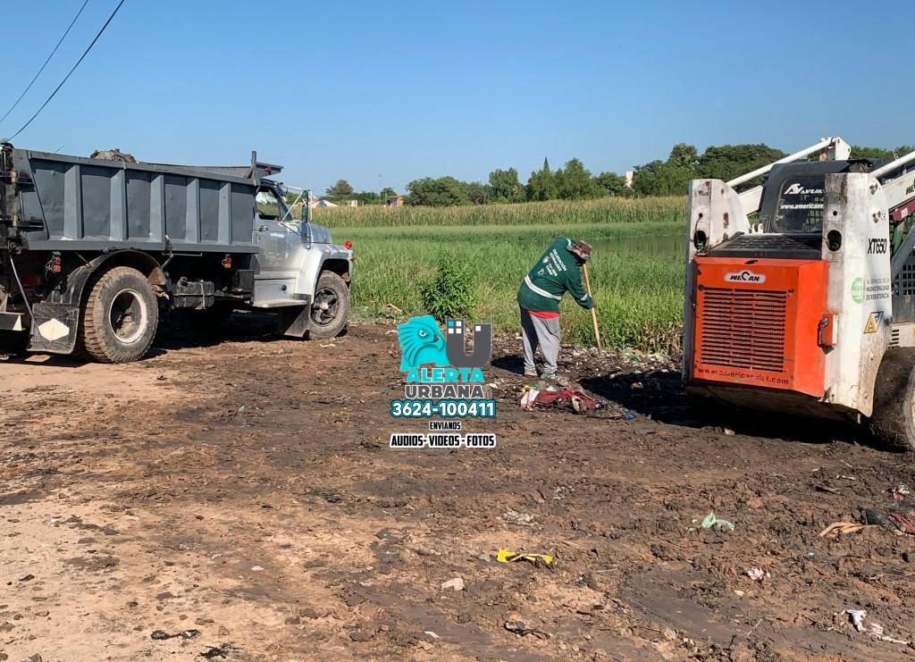 Resistencia: operativo de erradicación de mini-basural y limpieza