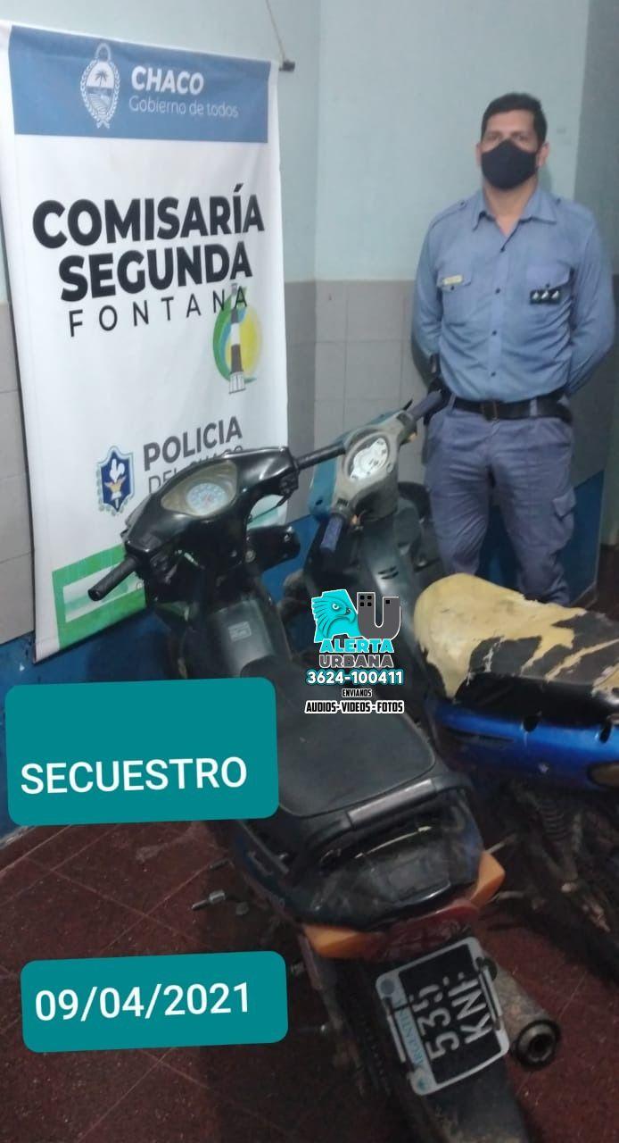 Fontana: secuestraron un arma, motocicletas e infracción de normas por lo cual hubo detenciones