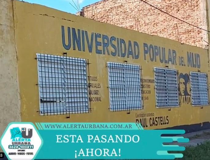 """Estudiantes de la UEP N° 154 del MIJD de Raúl Castells reclaman su título de """"Enfermeros""""."""
